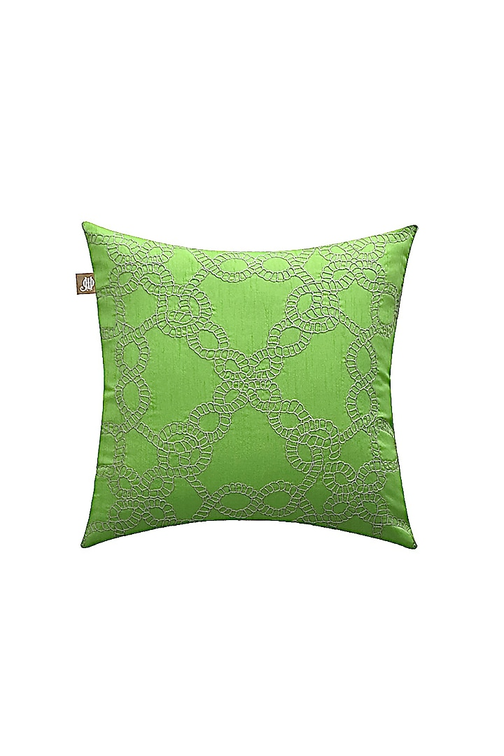 Lime Green Decorative Cushion Cover by Jazz My Home