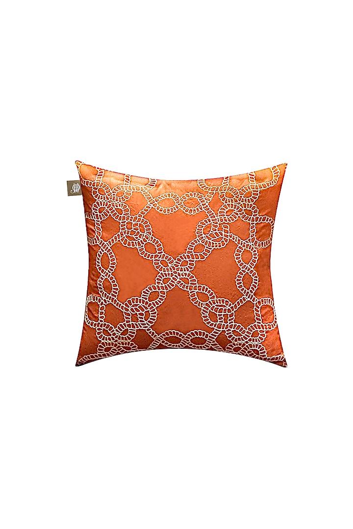 Orange Silk Cushion Cover by Jazz My Home