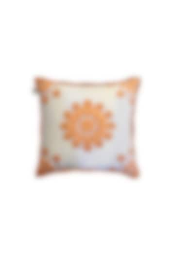 White Cushion With French Knots by Jazz My Home