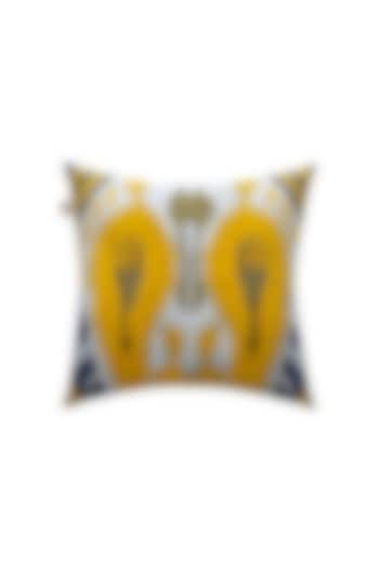 White Hand Embroidered Cushion Cover by Jazz My Home