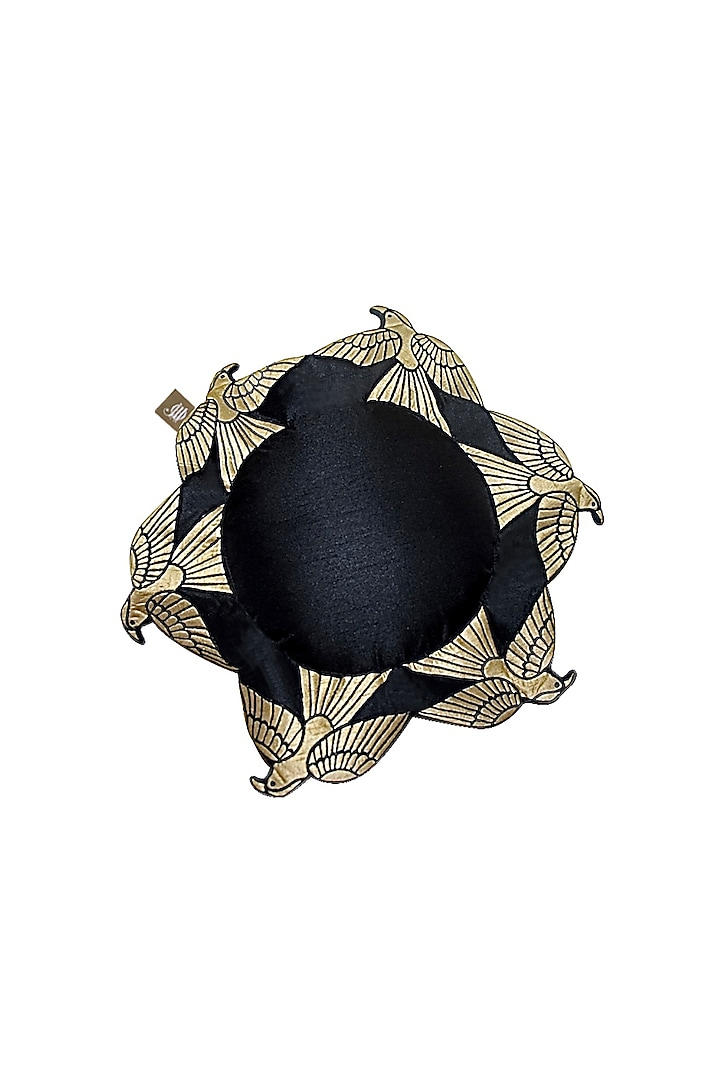 Black Cushion With Feathers by Jazz My Home