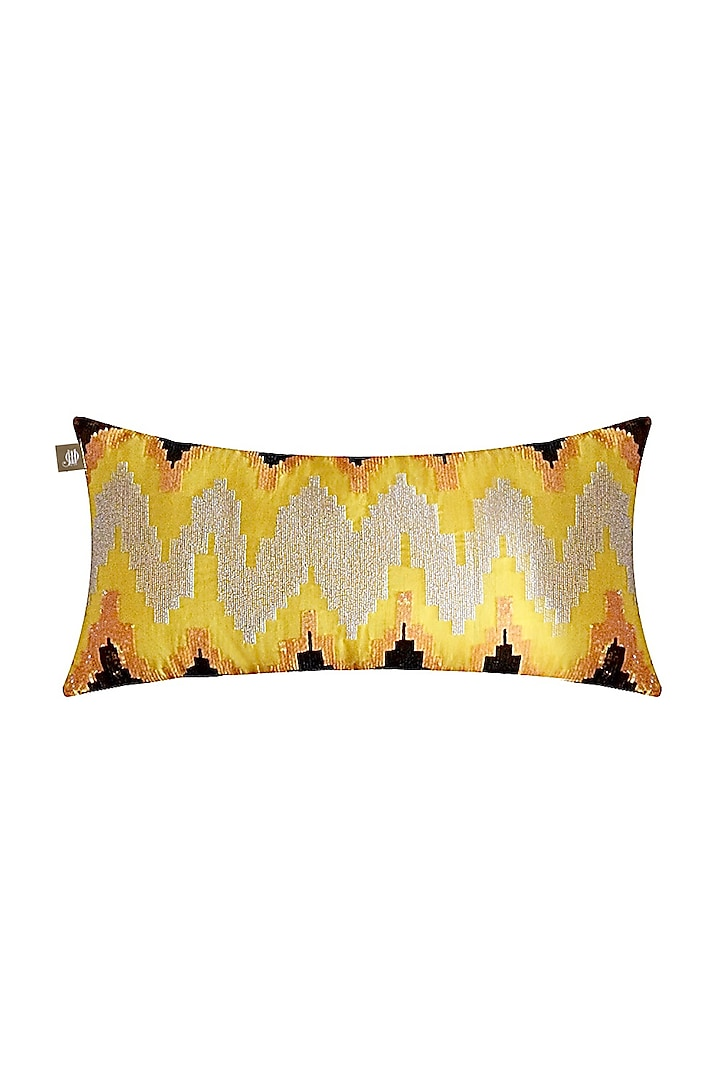 Sunshine Yellow Lumbar Pillow Cover by Jazz My Home