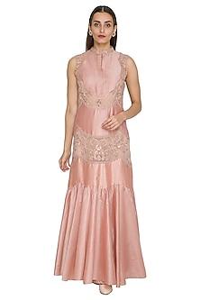 Blush Pink Embroidered Dress by Jyoti Sachdev Iyer