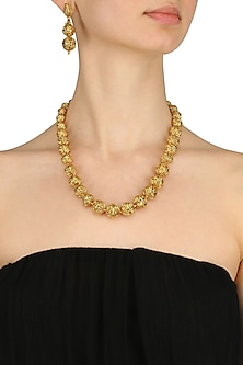 Gold Finish Two Liner Long Chain Necklace by Just Shraddha