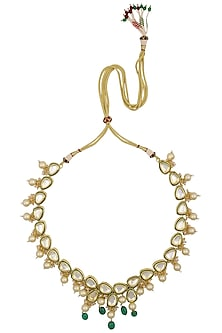 One Liner Polki Necklace by Just Shraddha