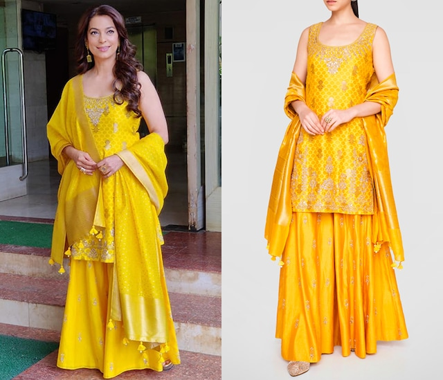 Yellow Embroidered Kurta Set by Anita Dongre