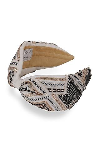 Ivory Crepe Headband by Joey & Pooh