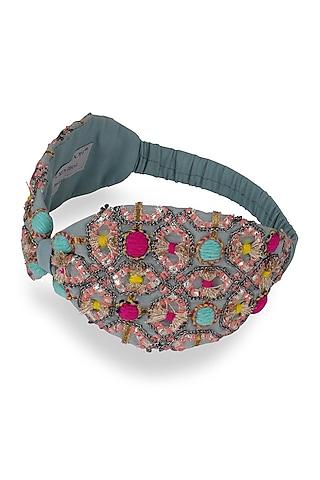 Blue Crepe Headband by Joey & Pooh
