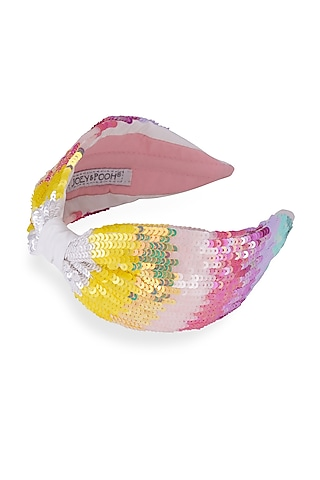 Multi Colored Headband With Sequins by Joey & Pooh