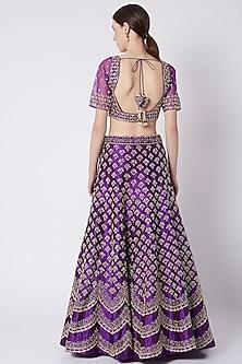 Purple Embroidered Lehenga Set by Jiya by Veer Designs