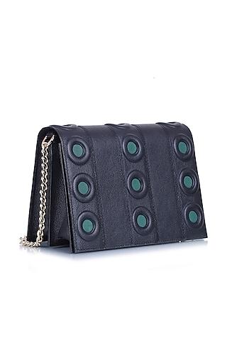 Black Leather Shoulder Bag by Kaeros