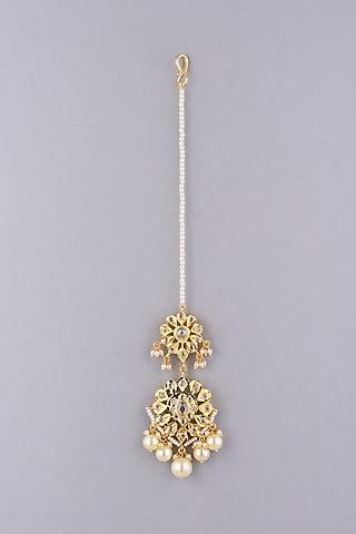 Gold Plated Kundan Maangtikka by Kiara