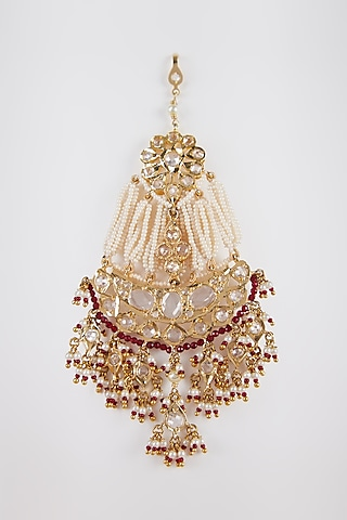 Gold Plated Kundan Pasa by Kiara