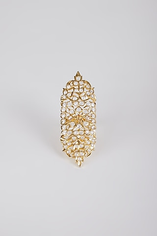 Gold Plated Adjustable Ring by Kiara