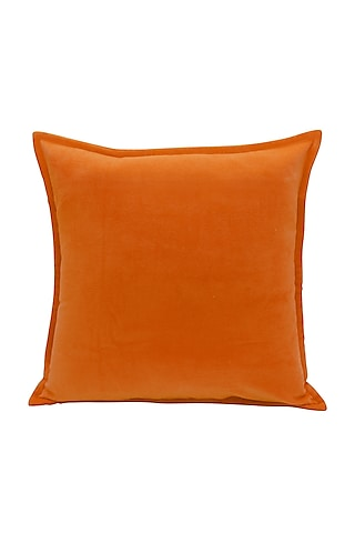 Orange Soft Velvet Pillow Cover by Kalakari Home