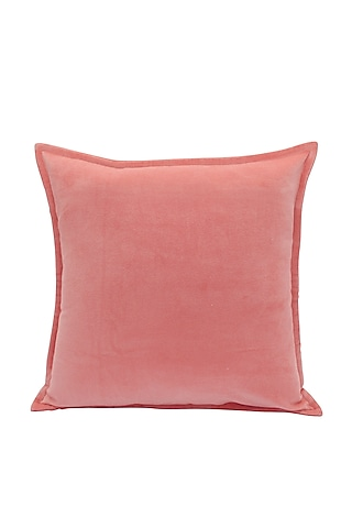 Pink Soft Velvet Pillow Cover by Kalakari Home