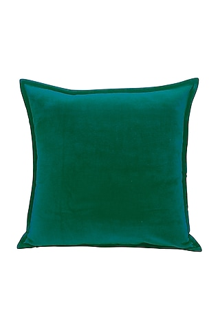 Turquoise Soft Velvet Pillow Cover by Kalakari Home