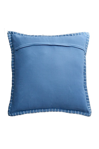 Light Blue Soft Velvet Pillow Cover by Kalakari Home