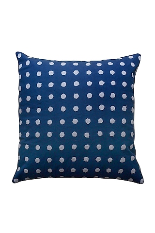 Navy Blue Tufting Embroidered Pillow Cover by Kalakari Home