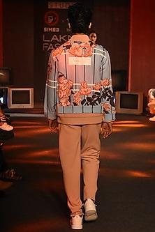 Pink Bougainvillea Jacket by Kanika Goyal Men
