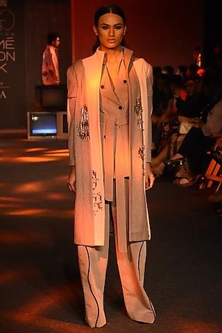 Grey Wide Legged Pants by Kanika Goyal