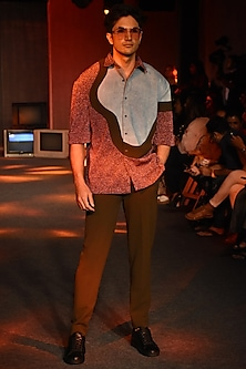 Multi Colored Shirt by Kanika Goyal Men