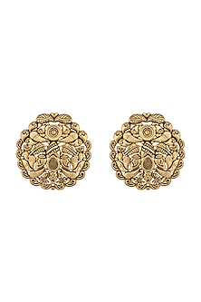 Gold Plated Stud Earrings by Kari