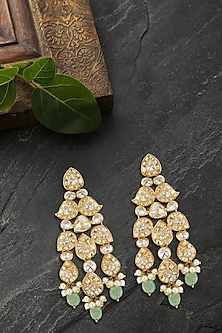 Gold Plated Vellore Polki Dangler Earrings by Kaari