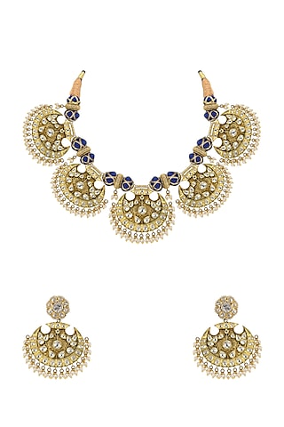 Gold Plated Piroi Collar Necklace by Kaari