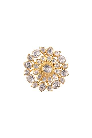 Gold Plated Polki Ring by Kaari