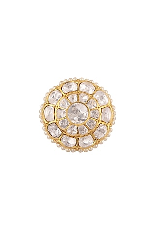Gold Plated Pearls Ring by Kaari