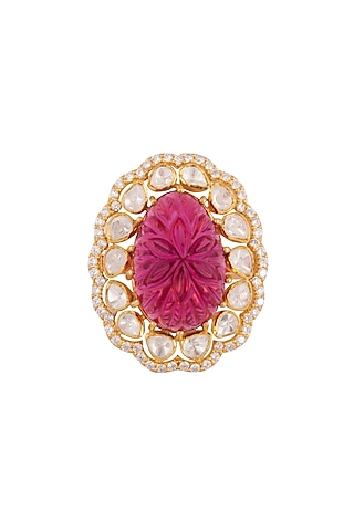 Gold Plated CZ Diamonds Rings by Kaari