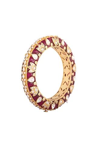 Gold Plated Pearls Kada by Kaari