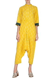 Yellow Low Crotch Jumpsuit by Ka-Sha