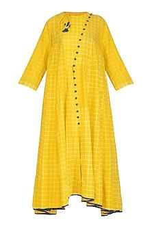 Yellow Tie-Dye Dress by Ka-Sha