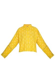 Yellow Tie-Dye Crop Top by Ka-Sha