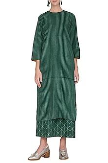 Emerald Green Tie-Dye Tunic by Ka-Sha