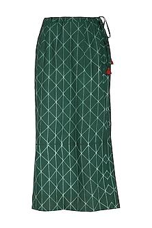 Emerald Green Straight Skirt by Ka-Sha