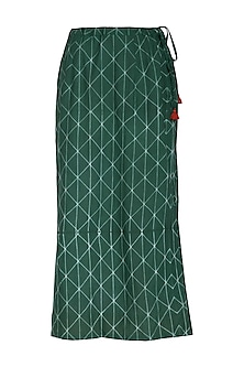 Emerald Green Straight Skirt by Ka-Sha