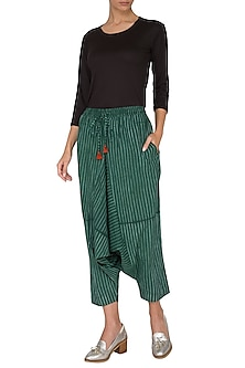 Emerald Green Low Crotch Pants by Ka-Sha