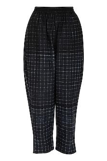 Black Cotton Salwar Pants by Ka-Sha