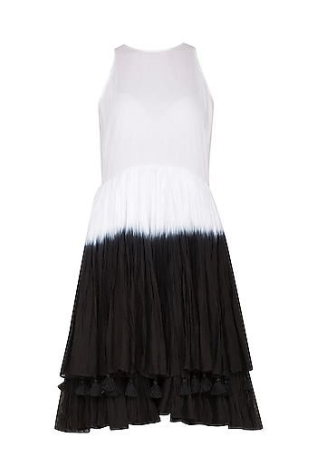 White Dip Dye Dress by Ka-Sha