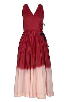 Red Tie-Dyed Dress by Ka-Sha