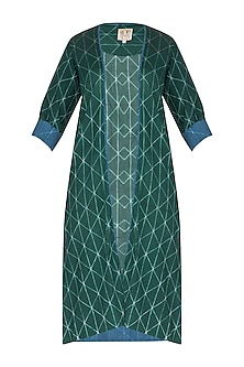 Emerald Green Stitch Dye Straight Jacket by Ka-Sha