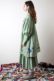 Sage Green Hand Painted Jacket by Ka-Sha