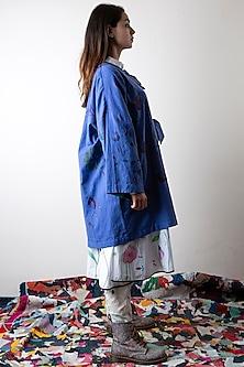 Sapphire Blue Hand Painted Jacket by Ka-Sha