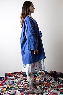 Lily White Hand Painted Pants  by Ka-Sha
