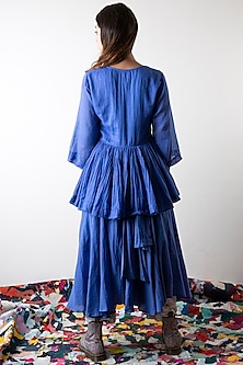 Sapphire Blue Hand Dyed Top by Ka-Sha