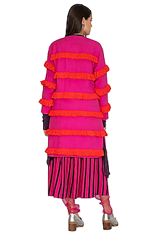 Pink Fringed Tunic by Ka-Sha