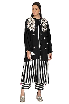 Black Corozzo Embroidered Jacket by Ka-Sha